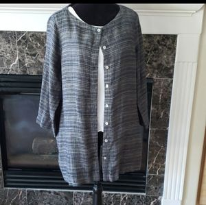 EILEEN FISHER organic linen jacket blazer …